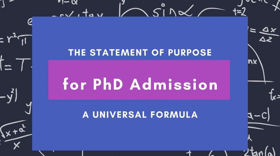 Statement of Purpose for PhD Header